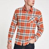 River Island Pepe Jeans - Chemise à Carreaux Rouge à Manches Longues