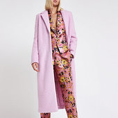 River Island Manteau Long Rose Texturé
