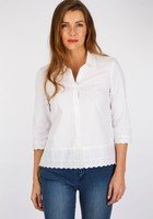 Chemise Broderies Anglaises Blanc Femme Taille 2 - Scottage