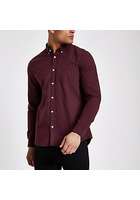 River Island Chemise Oxford Manches Longues Violette