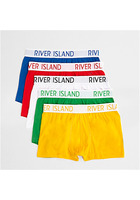 River Island Lot De Boxers Taille Basse Multicolores Rouges