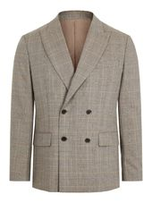 J.lindeberg Dorian Checked Blazer Men Brown