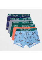 River Island Lot De Shorties Imprimé Safari Bleus