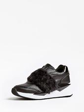 Sneaker Tinsel Cuir Fausse Fourrure