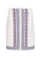 Jupe Droite En Canevas Blanc Femme Taille 38 - Scottage