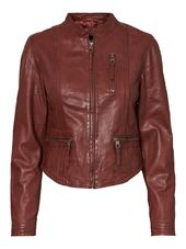 Vero Moda Cuir Veste Women Brown