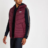 River Island Jack & Jones - Veste Matelassée Sans Manches Bordeaux