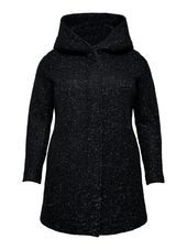 Only Voluptueux Laine Manteau Women Black