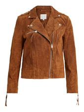 Vila Daim Veste En Cuir Women Brown