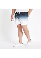 River Island Big And Tall - Short De Bain Noir Effet Dip Dye