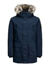 Jack & Jones Capuche Fourrure Synthétique Parka Men Blue