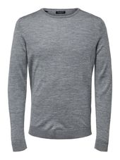 Selected Laine Mérinos - Pull Men Grey