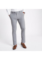 River Island Pantalon De Costume Skinny Stretch Gris Clair