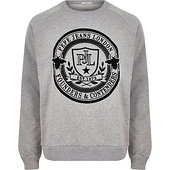 River Island Pepe Jeans Grey Crest Print Sweatshirt
