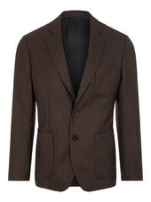 J.lindeberg Hopper Mouline Twill Blazer Men Brown
