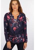 Tunique à Fleurs Bleu Femme Taille 5 - Scottage