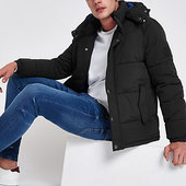 River Island Jack & Jones Originals - Doudoune Noire