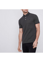 River Island Jack & Jones Premium - Polo Gris Foncé