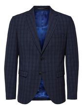 Selected À Carreaux - Blazer Men Blue