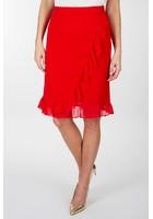 Jupe à Volants Rouge Femme Taille 42 - Scottage