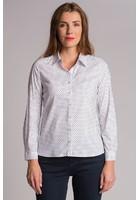 Chemise à Pois Bleu Femme Taille 7 - Scottage