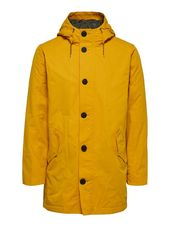 Selected Polyester Recyclé À Capuche Manteau Men Yellow