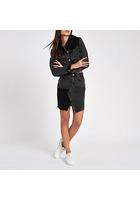 River Island Mini-jupe En Denim Taille Haute Avec Empiècement En Velours Côtelé