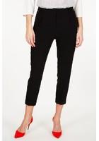 Pantalon à Pince Uni 7/8 Eme Noir Femme Taille 44 - Scottage
