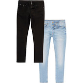 River Island Lot De Jeans Slim Noirs