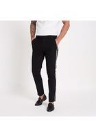River Island Pantalon Skinny Noir Avec Bande Latérale