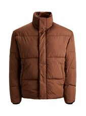 Jack & Jones Col Montant Doudoune Men Brown