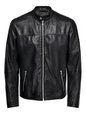 Only & Sons Motard Veste En Cuir Men Black