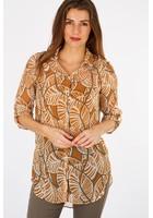 Chemise Longue Imprimée Orange Femme Taille 1 - Scottage