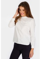 Blouse Col Montant Blanc Femme Taille 5 - Scottage