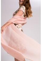 Echarpe Plissée Rose Femme Taille Tu - Scottage