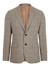 J.lindeberg Hopper Checked Blazer Men Brown