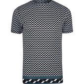 River Island T-shirt Slim à Imprimé Géométrique Bleu Marine
