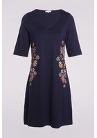 Robe Col V Bleu Femme Taille 5 - Scottage