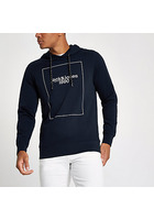 River Island Jack & Jones - Sweat à Capuche Core « 1990 » Bleu Marine