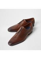 River Island Chaussures Derby En Cuir Marron à Bout Carré
