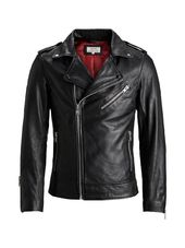 Jack & Jones Rdd Motard Veste En Cuir Men Black