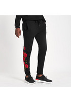 River Island Criminal Damage - Pantalon De Jogging Noir à Rose Brodée