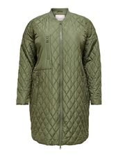 Only Matelassée Manteau Women Green