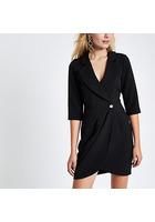 River Island Mini-robe Portefeuille Moulante Noire