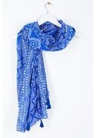 Foulard Géométrique Bleu Femme Taille Tu - Scottage