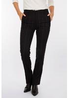 Pantalon Rayé Droit Noir Femme Taille 44 - Scottage