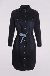 Robe Chemise Bleu Femme Taille 46 - Scottage