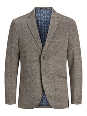 Jack & Jones Coupe Slim Chevrons Blazer Men Grey
