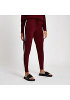 River Island Pantalon De Jogging En Maille « Winging It » Rouge