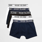 River Island Lot De Boxers Longs Rouges Avec Taille à Logo Ri